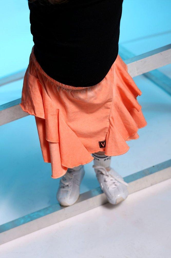 Spódniczka z falbankami colddye orange LAMBADA
