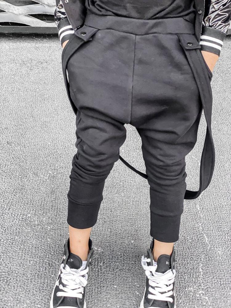 Spodnie z szelkami BLACK LANE